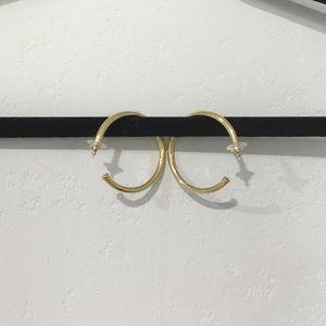 Monet Gold Hoops Earings